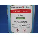 1 Liter Buntlack Kunstharz Farbe Lack RAL 3000 Feuerrot...