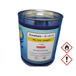 1 Liter Buntlack Kunstharz RAL 1018 Zinkgelb Glänzend