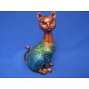 Afrika Katze Deko-Figur Deko Tierfigur handbemalt