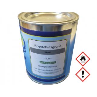 1 Liter Rostschutz Grundierung Rostschutzgrund Rostschutzfarbe Grau Metallgrund Primer