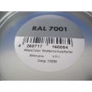 750ml Wetterschutzfarbe Grau Holzschutz Farbe Acryllack RAL 7001 Silbergrau