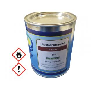 1 Liter Rostschutz Grundierung  Rostschutzgrund Rostschutzfarbe Rotbraun Metallgrund Primer