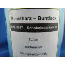 1 Liter Buntlack Kunstharz Farbe Lack RAL 8017 Schokoladenbraun Braun seidenmatt