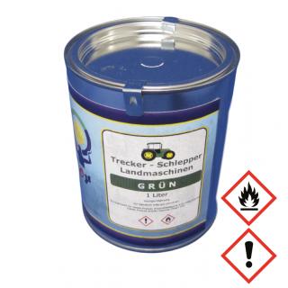 1 Liter Buntlack Kunstharz Farbe Trecker Schlepper Landmaschinen Grün Dunkel