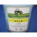1 Liter Buntlack Kunstharz FarbeTrecker Schlepper Landmaschinen Felgen Gelb